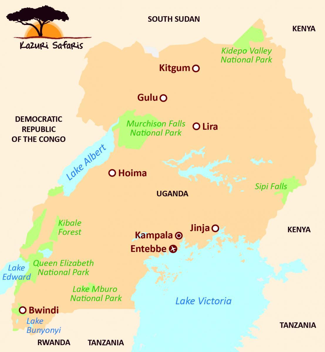 Afbeeldingsresultaat voor map oeganda